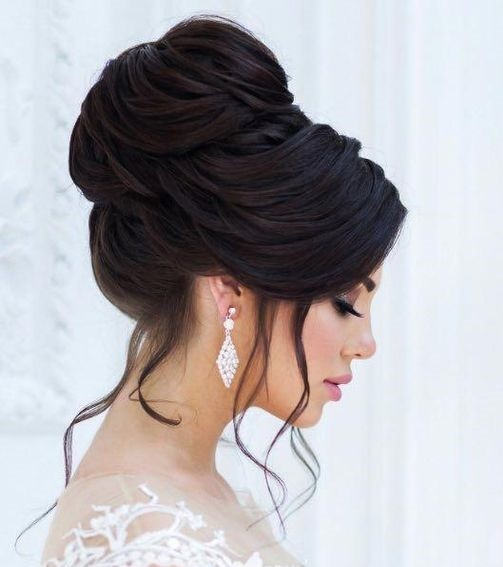 مدل مو عروس مشکی جدید 2020 با شینیون