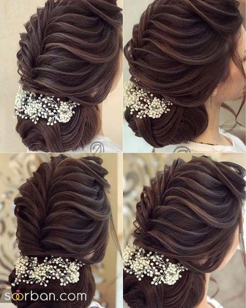 جذاب ترین مدل های شینیون خطی و ساده موی مشکی برای عروسی و نامزدی