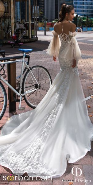جدیدترین مدل های لباس عروس آستین پفی ۲۰۲۱