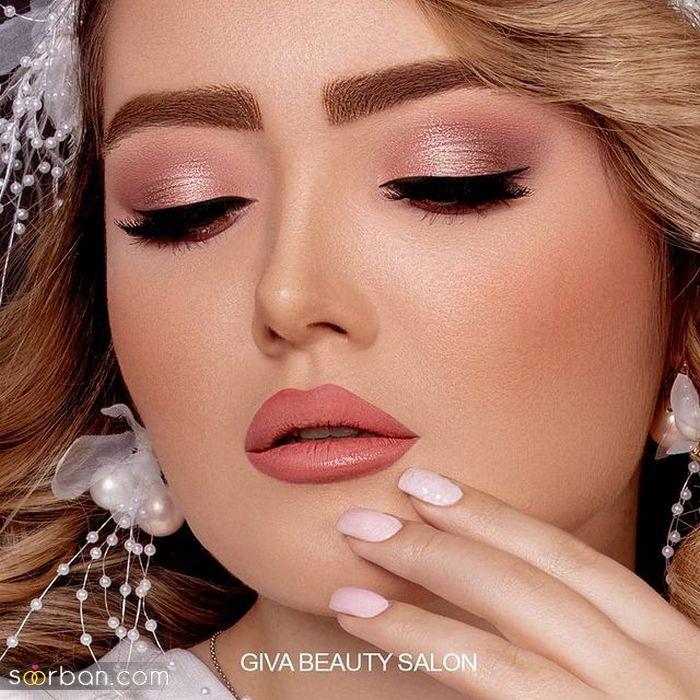 تصاویری دیدنی و بینظیر از انواع مدل آرایش صورت عروس ویژه سال ۲۰۲۱
