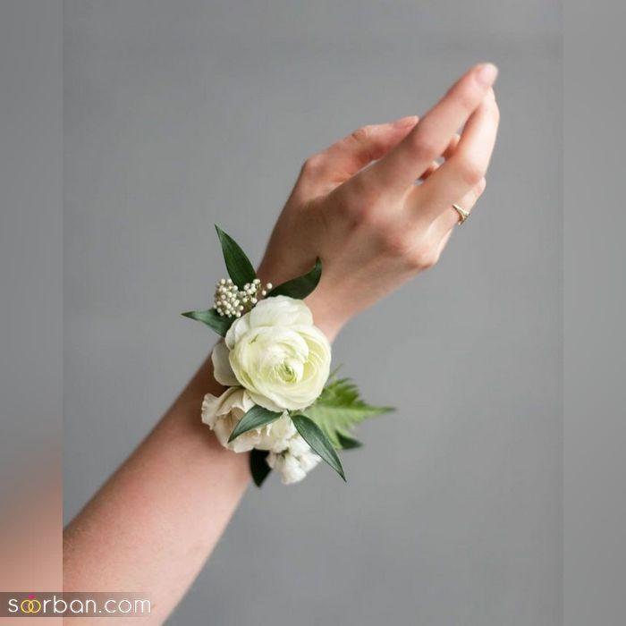 تصاویری دیدنی و بینظیر از انواع مدل دستبند گل عروس ویژه سال ۲۰۲۱