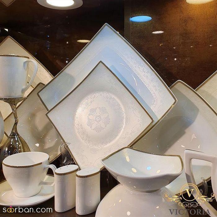 جدیدترین انواع مدل سرویس چینی عروس ۲۰۲۱ با طرح های خاص و مدرن