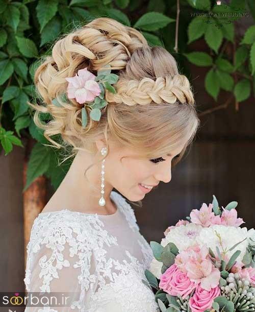 مدل مو عروس با بافت10