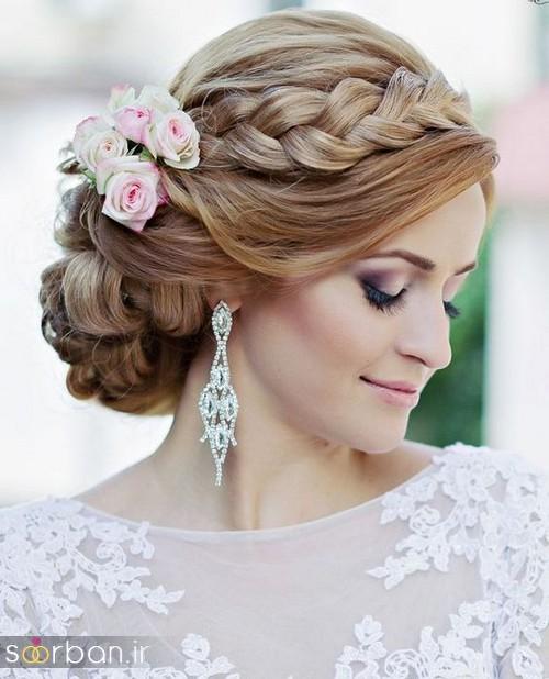 مدل مو عروس با بافت18