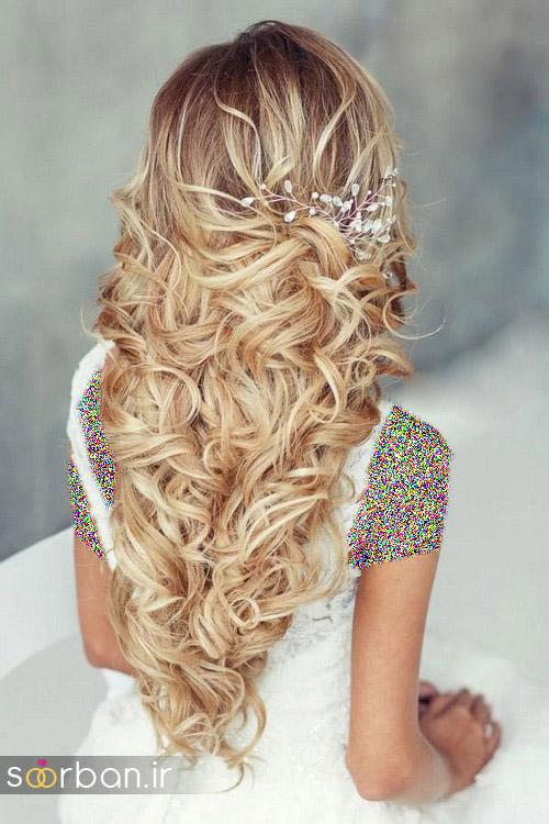 مدل مو عروس برای مو بلند1