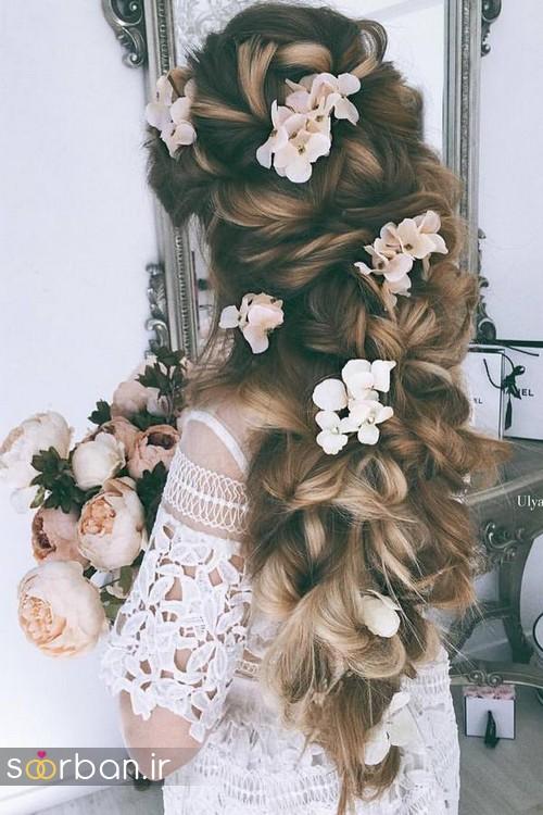 مدل مو عروس برای مو بلند2
