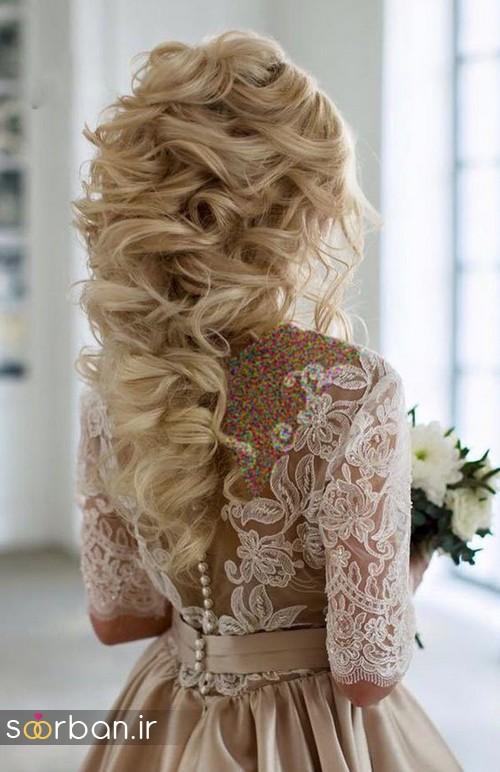 مدل مو عروس برای مو بلند16