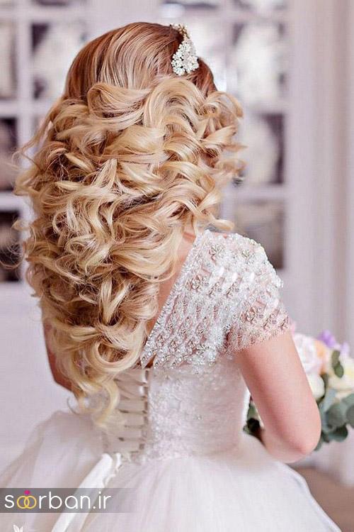 مدل مو عروس برای مو بلند20