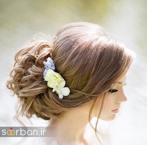 مدل شینیون مو عروس اروپایی3