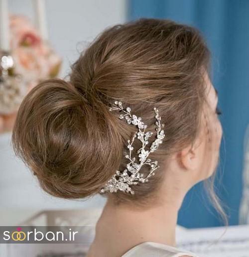مدل شینیون مو عروس اروپایی5
