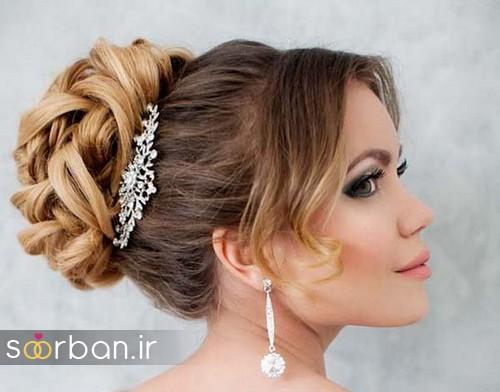مدل شینیون مو عروس اروپایی6