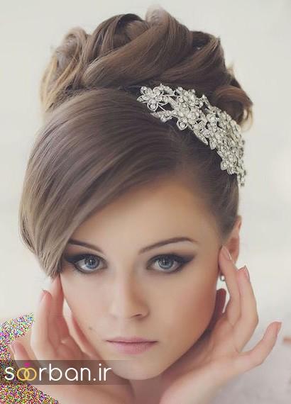 مدل شینیون مو عروس اروپایی16