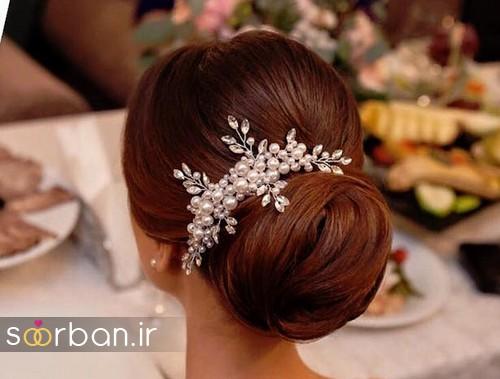 مدل شینیون مو عروس اروپایی18