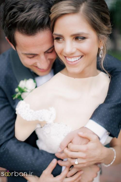 عکس عروس و داماد خندان
