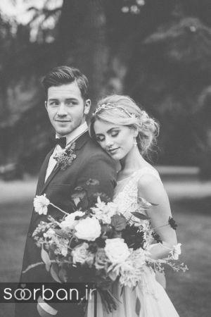 عکس عروس و داماد جدید با ژست های مختلف و زیبا-11