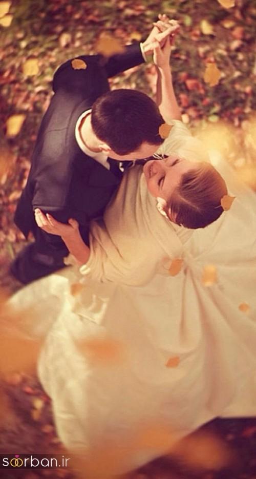 عکس عروس و داماد خارجی جدید در حال رقص