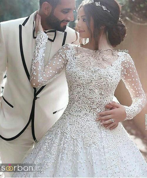 ژست عکس سر مجلسی عروس و داماد