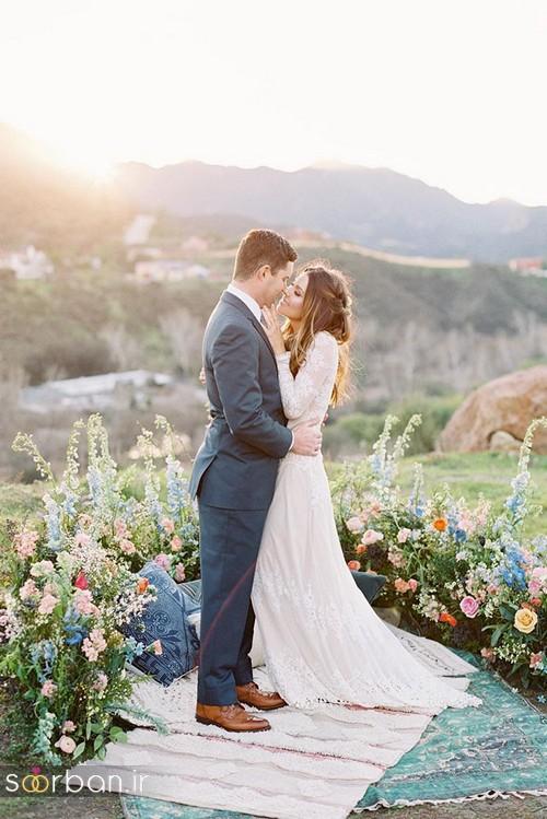عکس عروس و داماد جدید با ژست های مختلف و زیبا-20