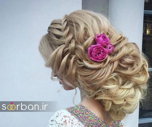 مدل مو عروس با گل طبیعی1