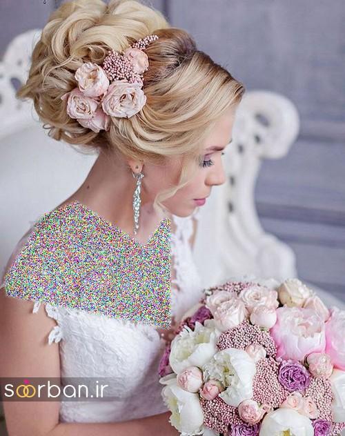 مدل مو عروس با گل طبیعی22
