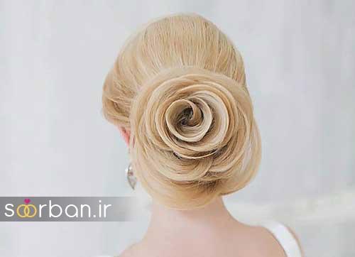 مدل مو عروس شیک برای مو بلوند1
