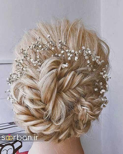 مدل مو عروس شیک برای مو بلوند2
