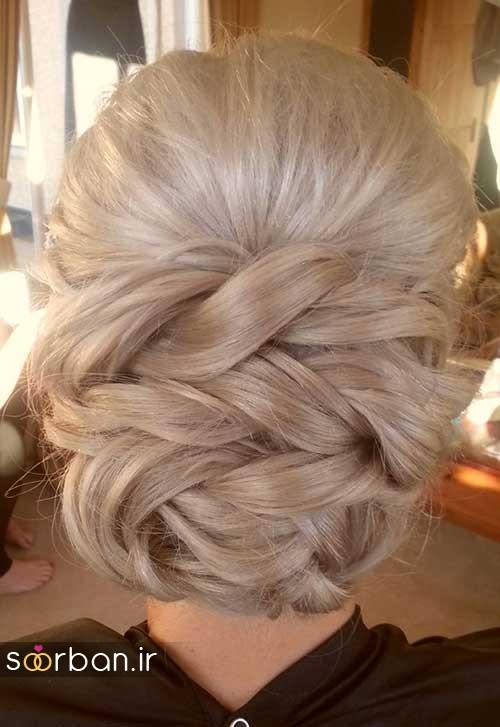 مدل مو عروس شیک برای مو بلوند3