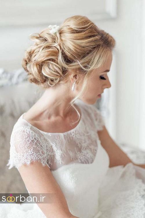 مدل مو عروس شیک برای مو بلوند5