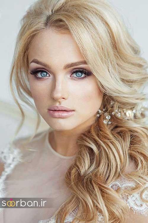 مدل مو عروس شیک برای مو بلوند6