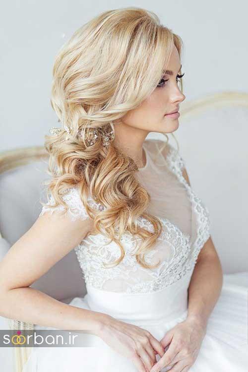 مدل مو عروس شیک برای مو بلوند7