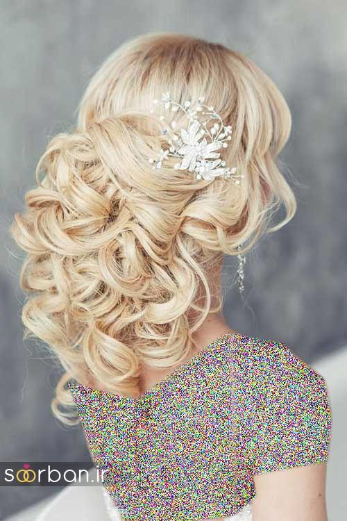 مدل مو عروس شیک برای مو بلوند8