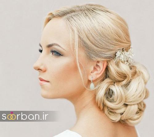 مدل مو عروس شیک برای مو بلوند10