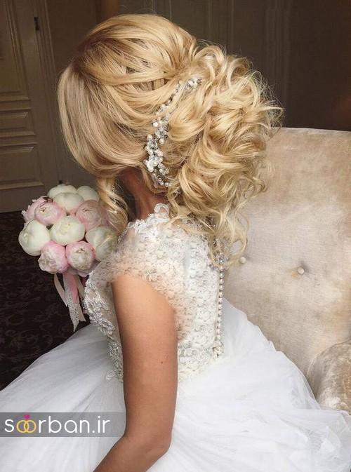 مدل مو عروس شیک برای مو بلوند11