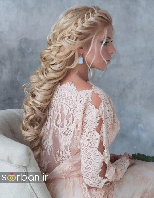 مدل مو عروس شیک برای مو بلوند13