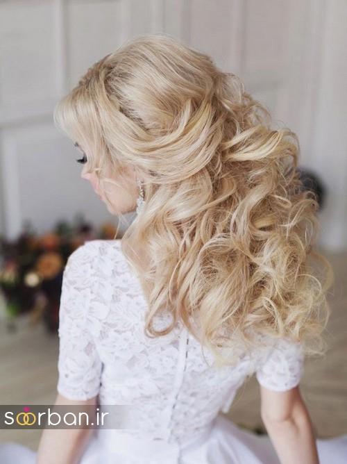مدل مو عروس شیک برای مو بلوند14