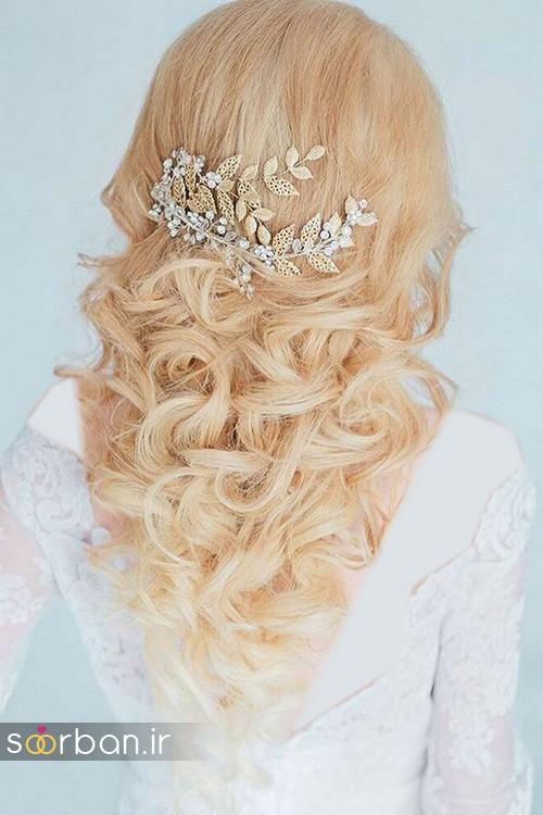 مدل مو عروس شیک برای مو بلوند16
