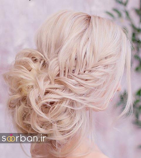 مدل مو عروس شیک برای مو بلوند18