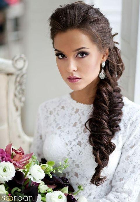 مدل مو عروس یک طرف2