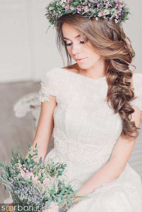 مدل مو عروس یک طرف5