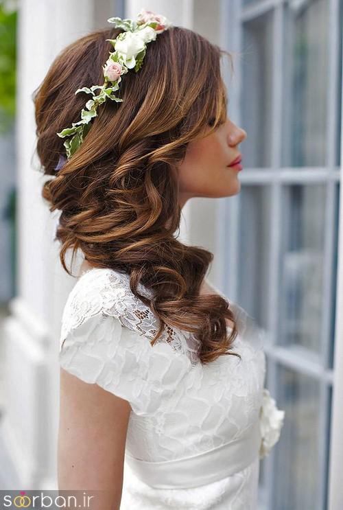 مدل مو عروس یک طرف7