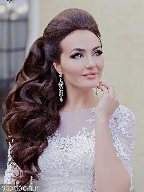 مدل مو عروس یک طرف12