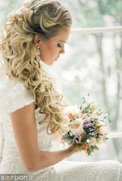 مدل مو عروس یک طرف14