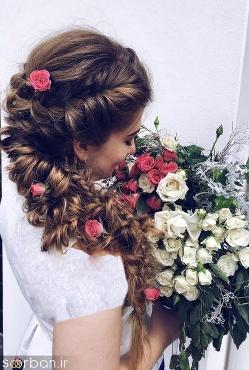 مدل مو عروس یک طرف15