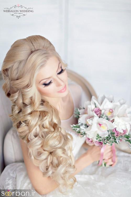 مدل مو عروس یک طرف16