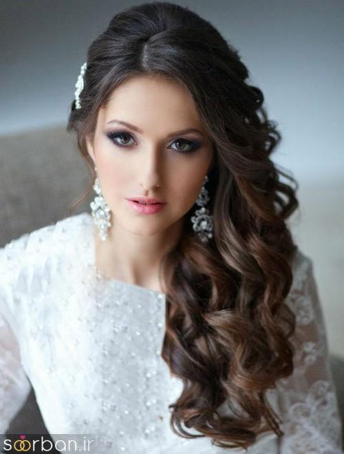 مدل مو عروس یک طرف19