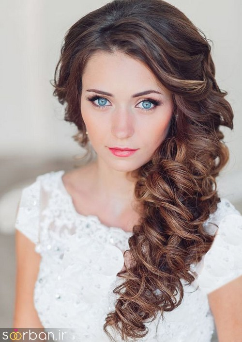 مدل مو عروس یک طرف21