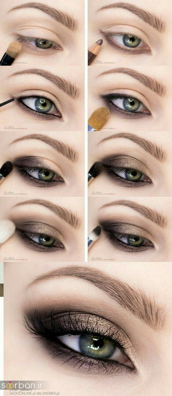 آموزش گام به گام زیباترین مدل های آرایش و سایه چشم مجلسی و عروس-8