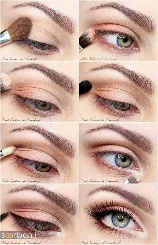 آموزش گام به گام زیباترین مدل های آرایش و سایه چشم مجلسی و عروس-9