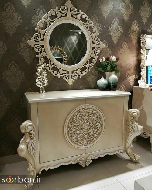 آینه کنسول جهیزیه عروس شیک6