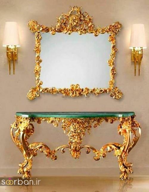 آینه کنسول جهیزیه عروس شیک15